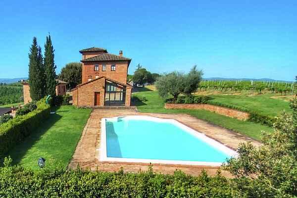 Gårdhus i Montepulciano