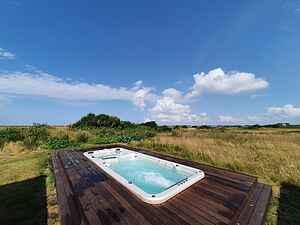 Panorama udsigt over Limfjorden,  swim spa og sauna